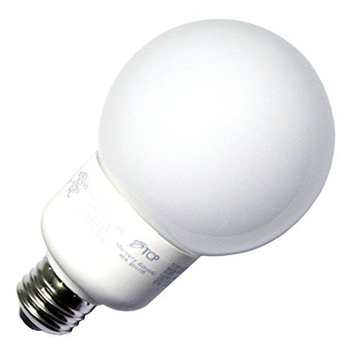TCP 4G2515TD30K CFL TruDim G25 - 60 Watt Equivalent (15W) Warm White (3000K) Dimmable Decorative Globe Light (Decorative Cfl)