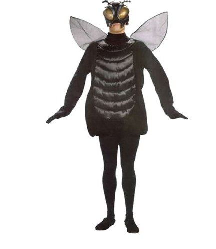 Adult Fly Costumes (Adults Fly Tunic Costume With Wings)