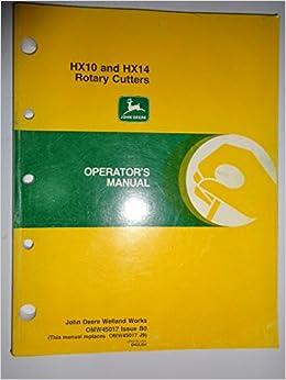 John deere hx10 and hx14 rotary cutters operator's manual omw45017.