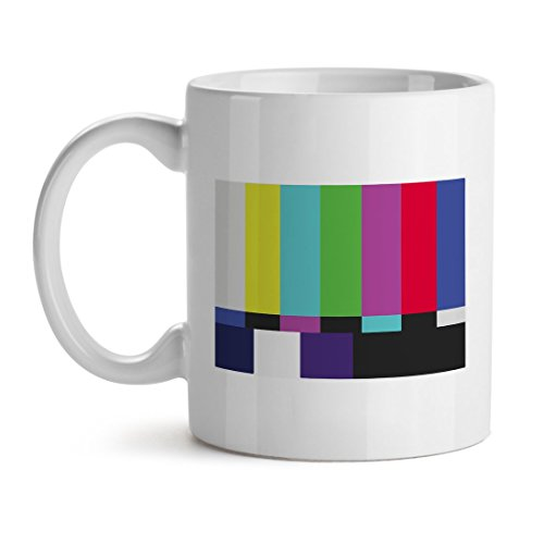 [SMPTE Color Bars Television Not Working Funny Old Days Childhood - Mad Over Mugs - Inspirational Unique Popular Office Tea Coffee Mug Gift] (Smpte Color Bars)