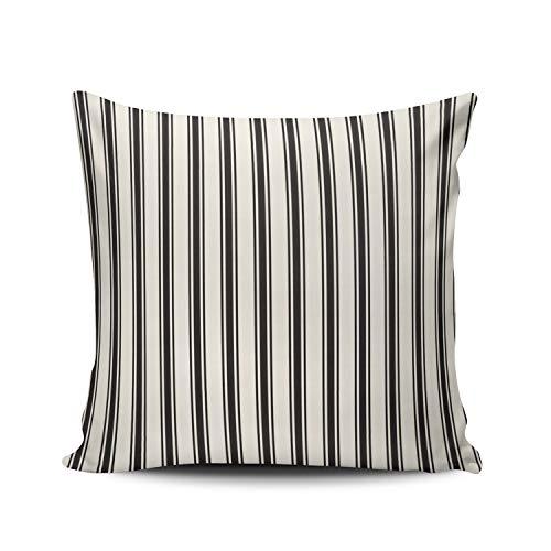 MUKPU Classic Ticking Stripe Home Decor Sofa Pillowcase 26X26 Inch European Throw Pillow Case Hidden Zipper Double-Sided Printed