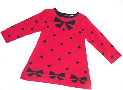 Hartstrings Girls' Intarsia Bow Dot Pattern Sweater Dress (Hartstrings Cardigan Sweater)