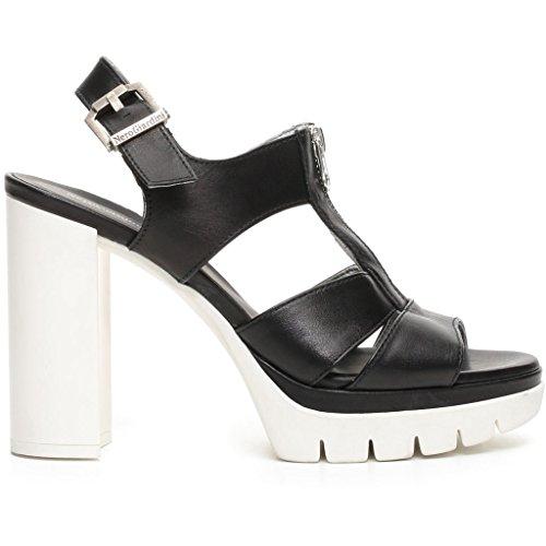 Nero negro con zapatos Giardini correa Mujer PwYqXPxr