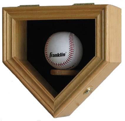 Béisbol vitrina armario estante de pared de soporte caja w/Uv ...