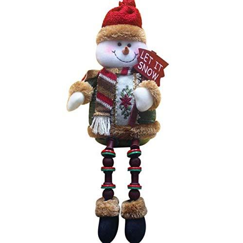 Christmas Best Decoration!!!Kacowpper Christmas Decorations Santa Claus Sitting Porcelain Snowman Christmas ()