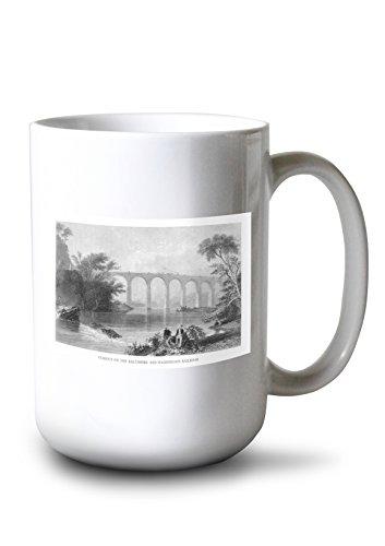 (Lantern Press Maryland - View of The Baltimore and Washington Railroad Viaduct (15oz White Ceramic Mug))
