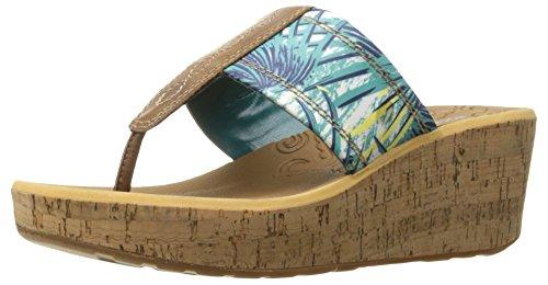 Rockport Women's Lanea Thong Platform Sandal - Teal Flora...