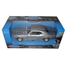 1967 Pontiac Firebird Silver 1:24 Diecast Model Car