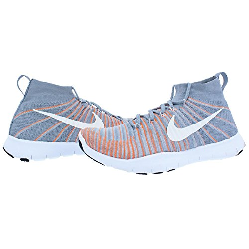Uomo Free Total Flyknit Train Ginnastica Grey Scarpe da Wolf Orange Force Nike qwd6Ux4w