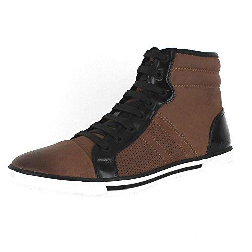 Kenneth Cole New York Mens Bas Ner Låg Sneaker Brun