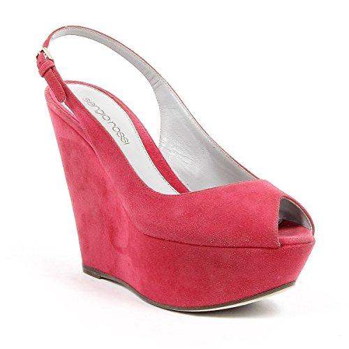 Sergio Chaussures Rouge Suède Compensées Rossi A03520MCAZ015500 Femme rwUXqraf