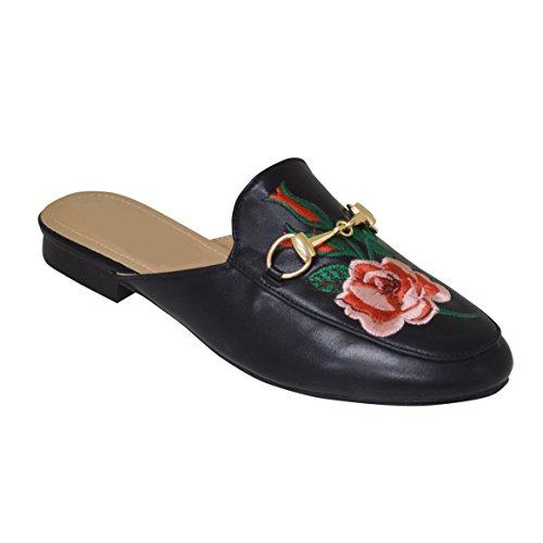 Ciara , Damen Sandalen Black Flower