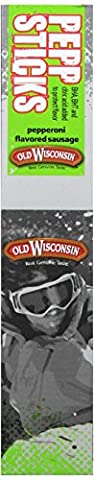 Old Wisconsin Snack Sticks, Pepperoni, 1.5-Ounce (Pack of 18) - Old Wisconsin Snack Sticks