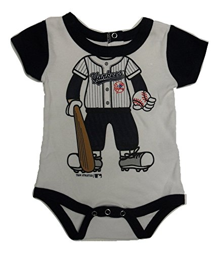 Team Athletics New York Yankees Onesie Baseball Uniform Romper (12 Month)