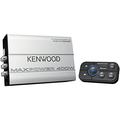 Kenwood 1177524 Compact Automotive/Marine Amplifier Class D Kac-M1824BT, 180W RMS, 400W PMPO, 4 ()