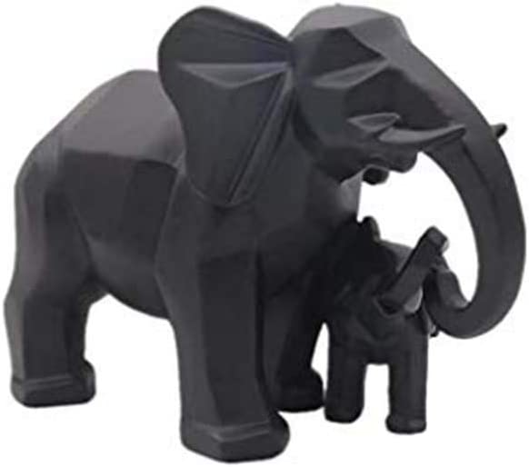 Deco Object Elephant couple H 15cm made of resin