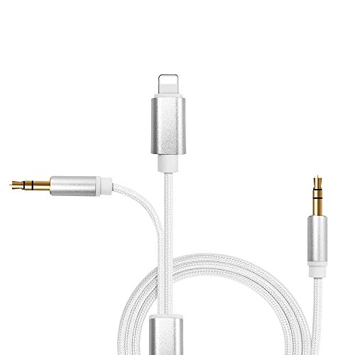 CTXTKER Aux Cable for iPhone 8, Lightning to 3.5mm Aux Stereo Audio Jack Adapter for iPhone 7/7 Plus/8Plus/6/6s/6 plus/5/5s/iPad/iPod by CTXTKER