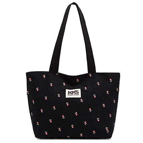 Outreo Borsetta Donna Handbag Ragazza Borsa Tracolla Borse a Mano Tote Bag Cartella Vintage Borse Spalla Sacchetto Firmate Borse Mare Tasca Tela
