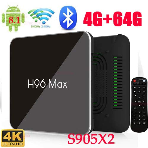 mx10 android 8.1 tv box 4gb / 64gb 3d 4k supported