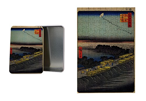 Nihonbashi Bridge (Hiroshige) Metal Tin Trinket Box (4