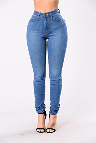 L.B FASHION High Rise-Waisted Women Juniors Colored Stretchy Skinny Butt Lift Jeans Pants Black White
