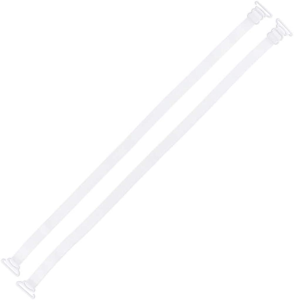 Baoblaze 1 Pair Adjustable Straps Ladies Bra Straps Replacement Straps Made Of Nylon With Metal Hooks