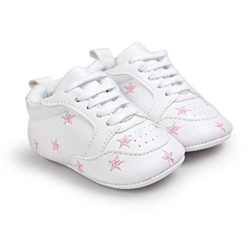 Girl Culla Inverno passi Bambino antiscivolo Calzature morbido Auxma Rosa sportive Primi Vestito Shoes Neonate Ciabatte Baby casual Baby w8BtWY