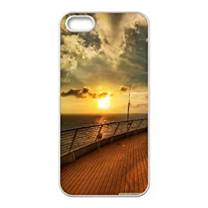 Cruise Ship Deck Sunset IPhone 5,5S Cases, Iphone 5s Cases for Men Cute Okaycosama - White