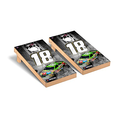 NASCAR #18 Kyle Busch Regulation Cornhole Game Set Pit Row Version 24 Nascar Bean Bag
