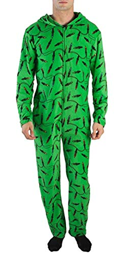 Bioworld Light Up Christmas Lights Tree Union Suit (S/M) Green -