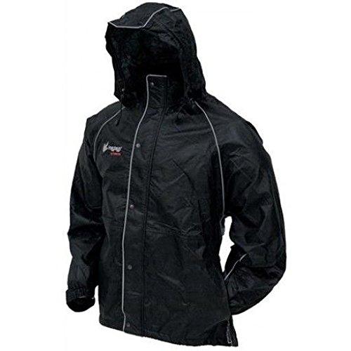 Frogg Toggs Tekk Toad Reflective Jacket, Black, Size XX-Large
