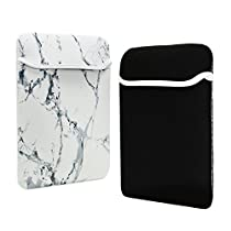 TOP CASE - Marble Pattern Reversible Sleeve Bag Cover for Most 12 inch Laptop / Macbook 12