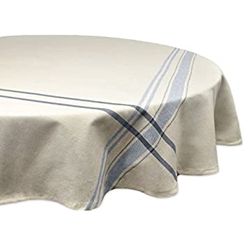 DII 100% Cotton, Machine Washable, Everyday French Stripe Kitchen Tablecloth  For Dinner Parties