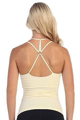 Cheap Kurve Back O Ring Spaghetti Strap -Made in USA- (One Size (Xs-Med), Cream)