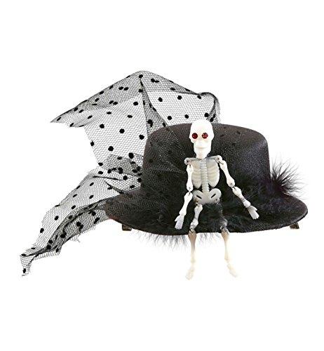 Black Skeleton Mini Top Hat (Mini Skeleton Top Hat)