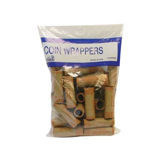 - 72 Rolls Preformed Coin Wrappers Paper Tubes For Quarters NF String Holds $10 Ea by ATB