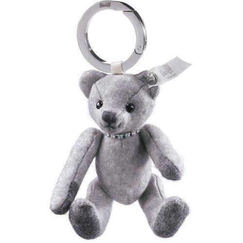 Steiff 035685 Selection Key Ring Felt Teddy bear Grey With Necklace by Steiff (Key Steiff Ring)