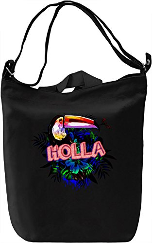 Holla Borsa Giornaliera Canvas Canvas Day Bag| 100% Premium Cotton Canvas| DTG Printing|