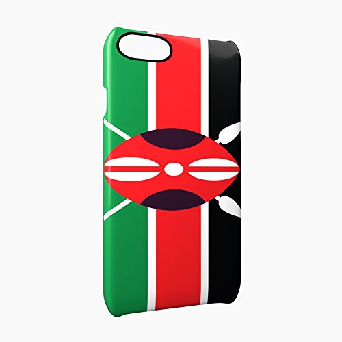 Flag of Kenya Glossy Hard Snap-On Protective iPhone 7 Plus + Case Cover
