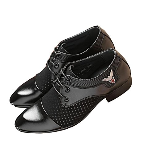 Formal With Star Derby Leather Men Shoes Wedding Spring Patent Black Oxford Collection Leisure Dress for Design Fall 2018 Fashion TFaw7