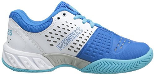 K-Swiss Boys' Tennis Shoes, White/Blue Star/Bachelor Button, 1.5 M US Little Kid