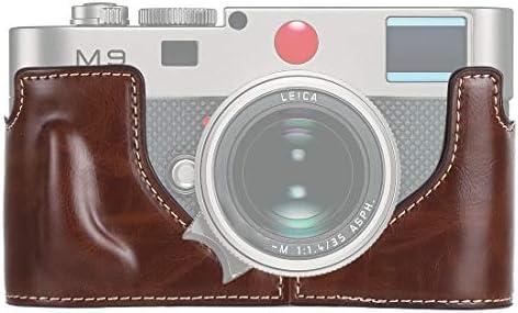 カメラアクセサリー Leica M9用1/4インチスレッドPUレザーカメラハーフケースベース カメラアクセサリー (色 : Coffee)