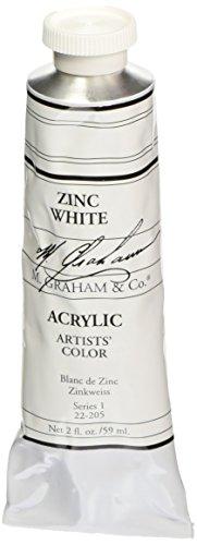 M. Graham 2-Ounce Tube Acrylic Paint, Zinc White