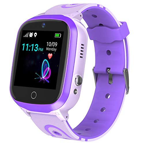 Smart Watch for Kids - Boys Girls Smartwatch Phone with Waterproof GPS Tracker Voice Chat SOS Call Camera Games Alarm Clock Anti Lost Games Touch Screen Watch Children Students Birthday Gifts