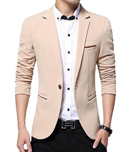 Wholesale SportsX Mens Pure Color Notch Lapel Patch One Button Blazer Jackets