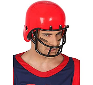 Atosa - Casco Rugby Rígido Futbol Americano, Color Rojo, única (49315)