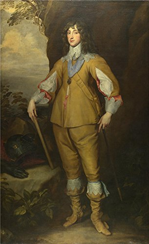 high quality polyster Canvas ,the High Resolution Art Decorative Prints on Canvas of oil painting 'Studio of Anthony van Dyck Prince Charles Louis Count Palatine ', 18 x 30 inch ()
