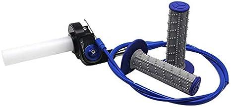 Fltaheroo Posizionamento Acceleratore Rapido del Gas di Torsione della Maniglia del Motociclo con Il Cavo Acceleratore per Il Manubrio da 7//8 Pollici 22Mm per Crf,Blu