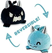 TeeTurtle | The Original Reversible Dragon Plushie | Patented Design | Blue & Black | Show Your Mood Witho