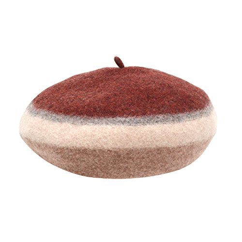 Syksdy Winter Ladies Fashion Pumpkin Hat Octagonal Cap 56-58cm New Beret Claret